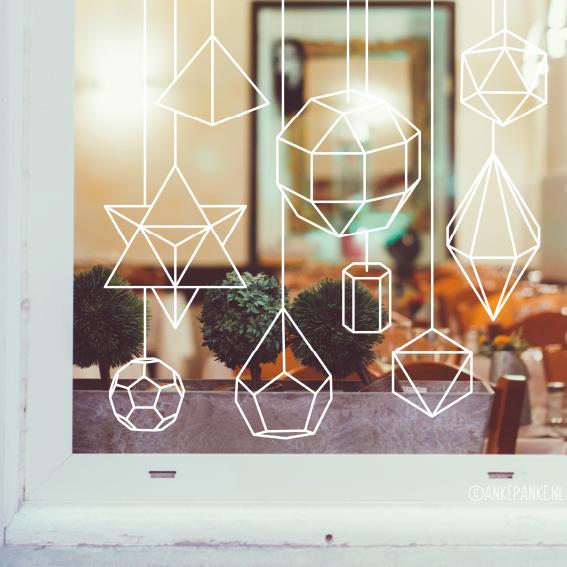 Wil je mooie papieren geometrische decoratie voor je raam for Decoratie voor de raam