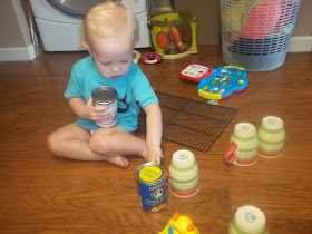 i'm going to make it (after all): 100 (Attempted) Ways to Entertain a Young Toddler, Day 20: Cars and Cans
