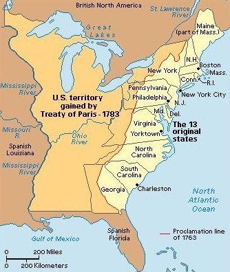Treaty of Paris in 1783 ending The Revolutionary War History