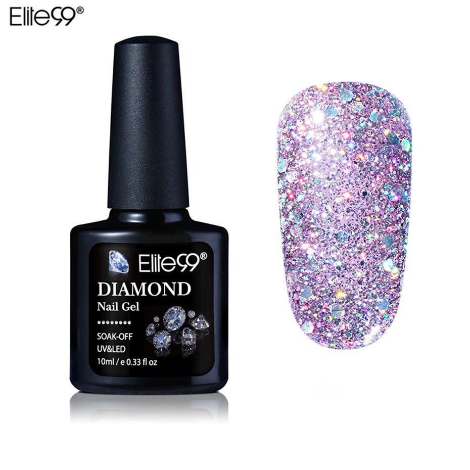 Elite99 10 ML Diamant Nagel Gel Glitter Uvgelpoliermittel Maniküre ...