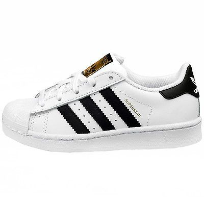 Adidas Superstar Child C77394 White Black Shell Shoes Little Kids Youth  Size 13