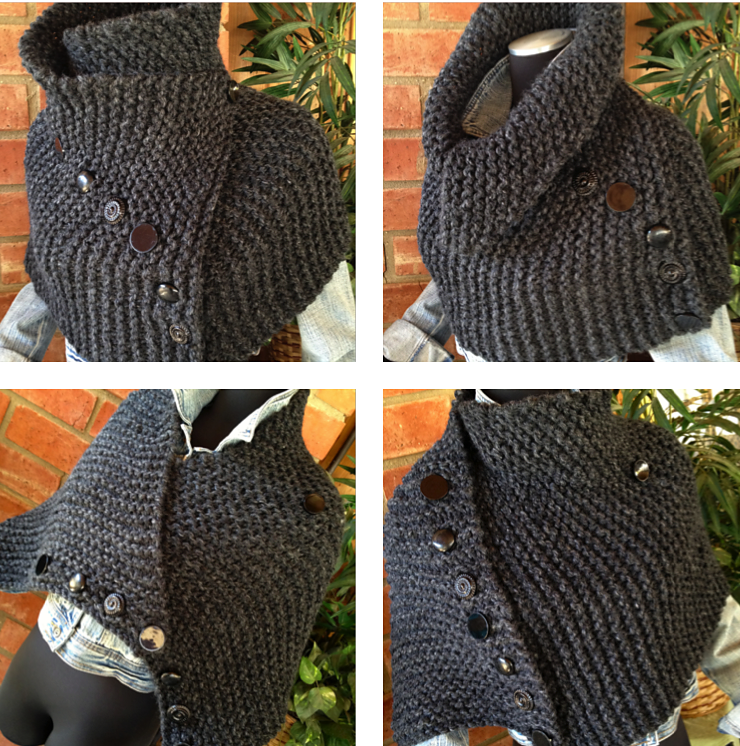 Knitting Pattern For Ribbed Hugger Cowl Knots And Kits Pinterest