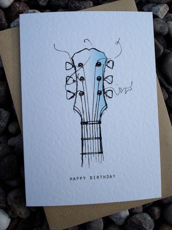 Guitar Birthday Card Card Pinterest Guitars 50th And Birthdays