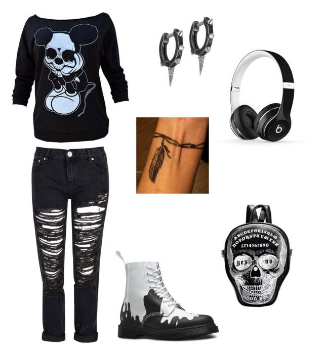 """""""Lazy day in the park"""" by gothicqueen9901 on Polyvore featuring Glamorous, Dr. Martens, Joëlle Jewellery and Beats by Dr. Dre"""