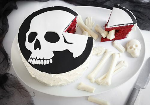 Make a Scary-Good Skeleton Cake This Halloween -   buffly - cake decorations for halloween