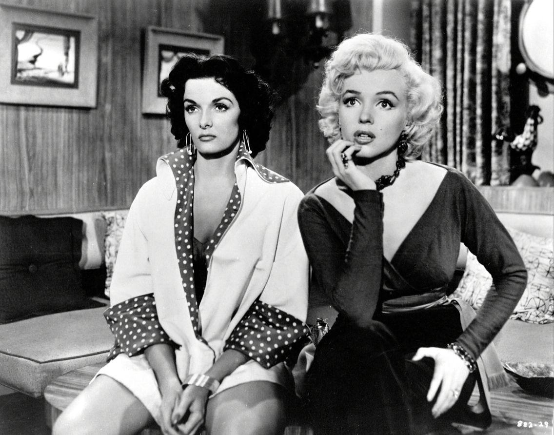 """Jane Russell & Marilyn Monroe """"Gentlemens prefer Blondes"""" , 1953"""