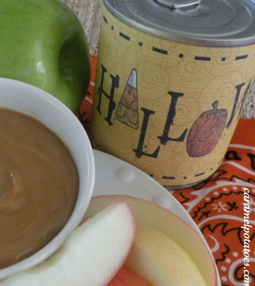 Caramel Dip For Apples Cooked In The Can (and Printable