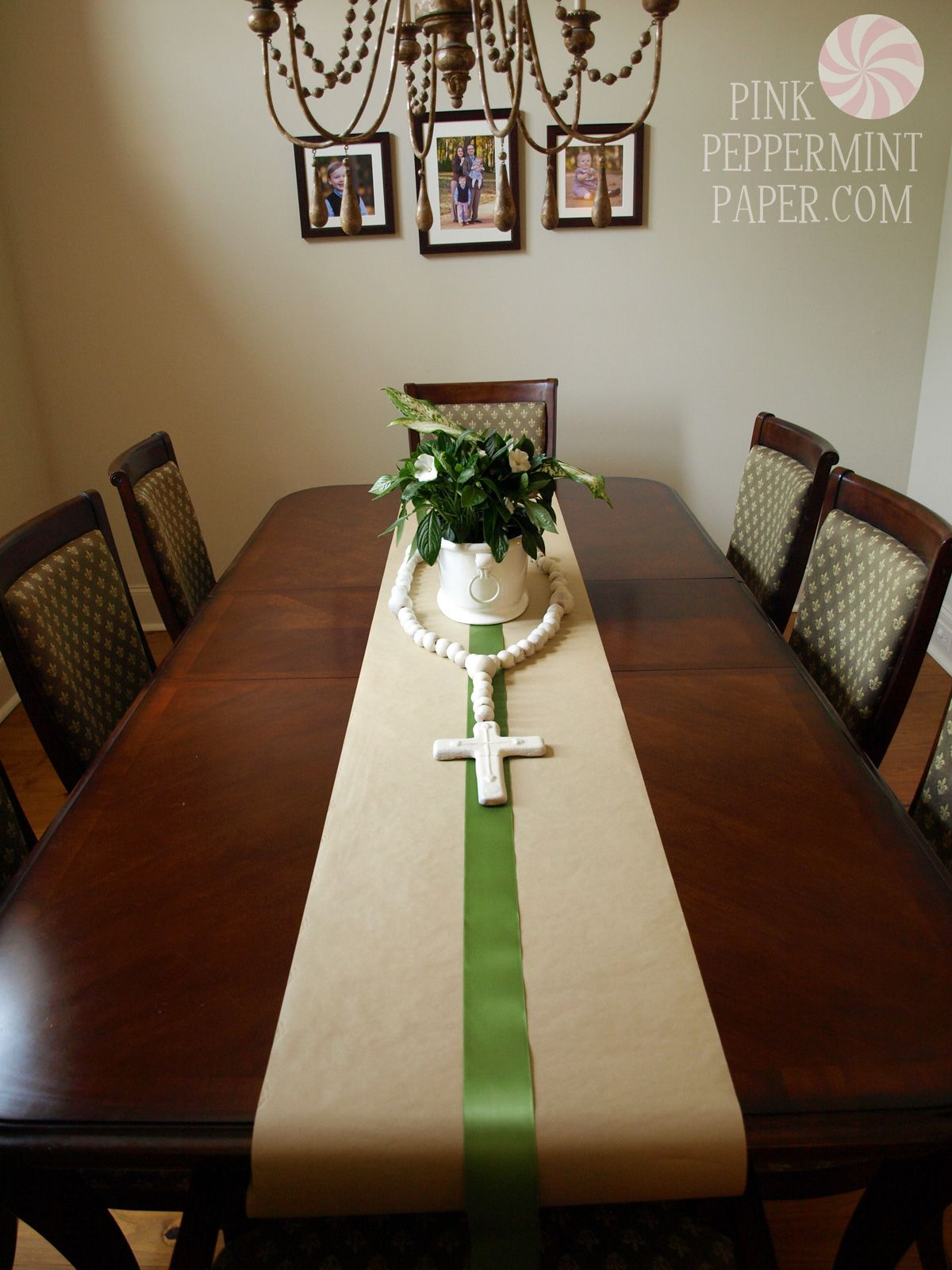 First munion Dining Table by PinkPeppermintPaper