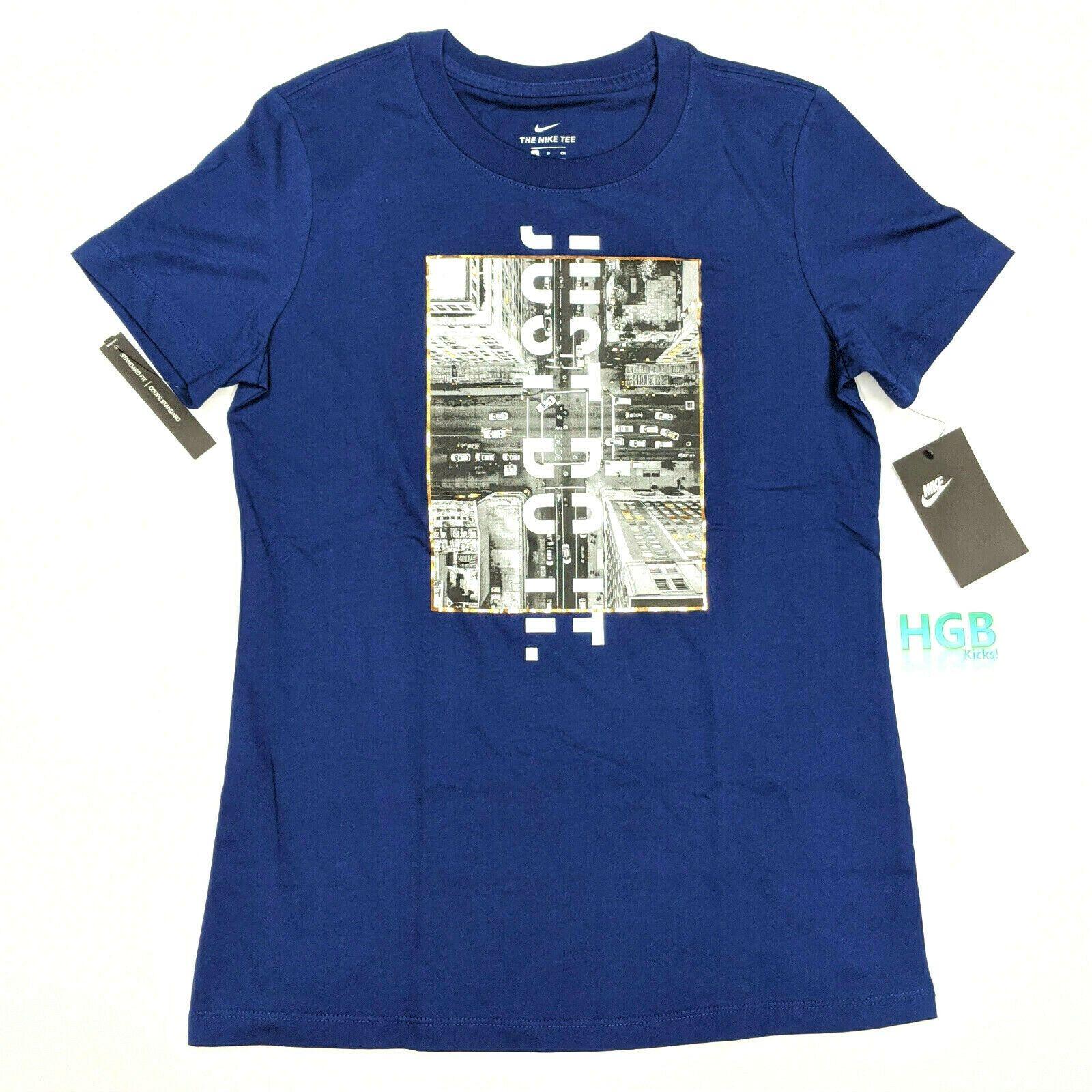 Nike Sportswear Nsw Tee Shirt Women S Blue Gold Metallic Jdi Ci5859 492 Nwt In 2020 Ladies Tee Shirts Sports Wear Women Sportswear Women