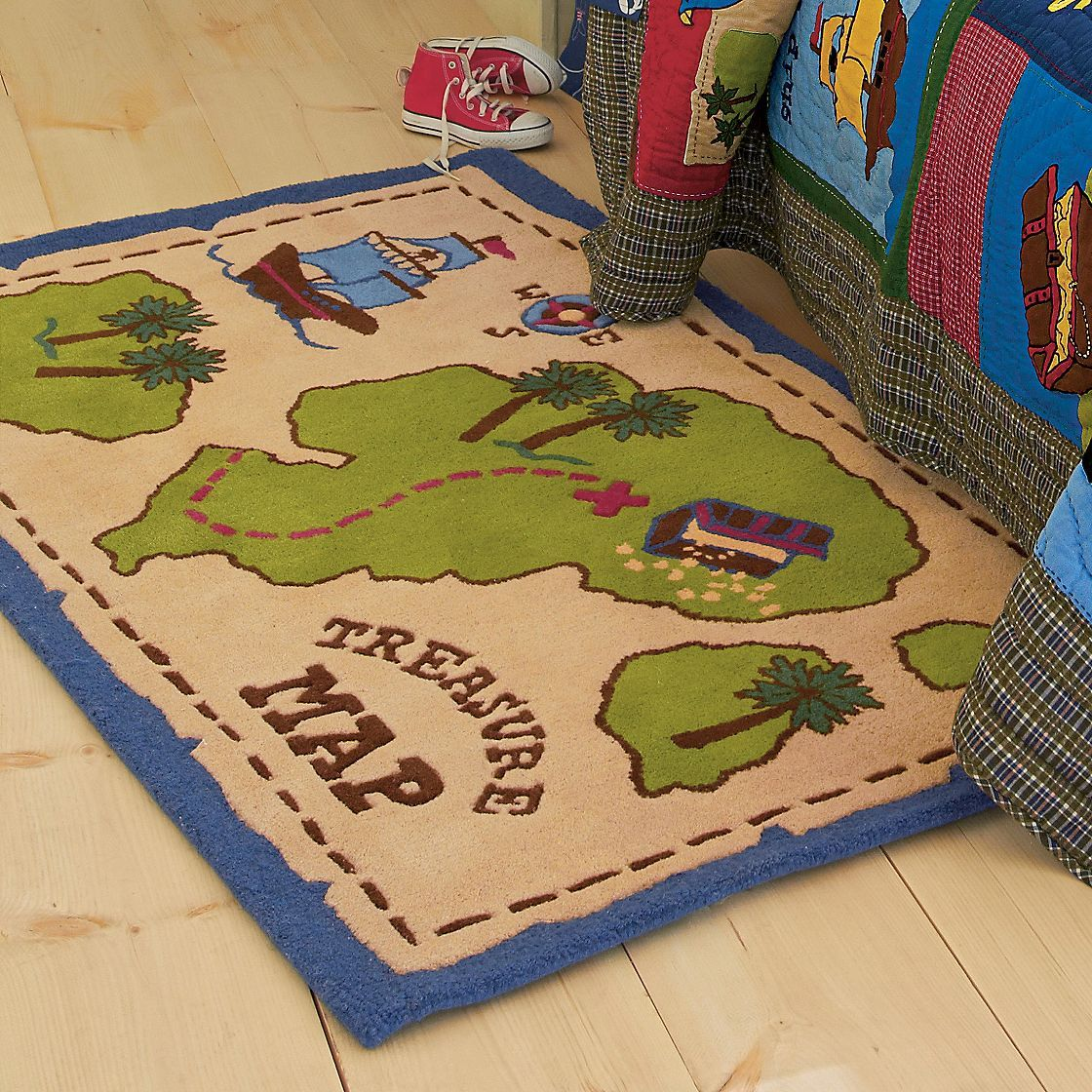 X Marks The Spot Our Treasure Map Kids Rug Transforms
