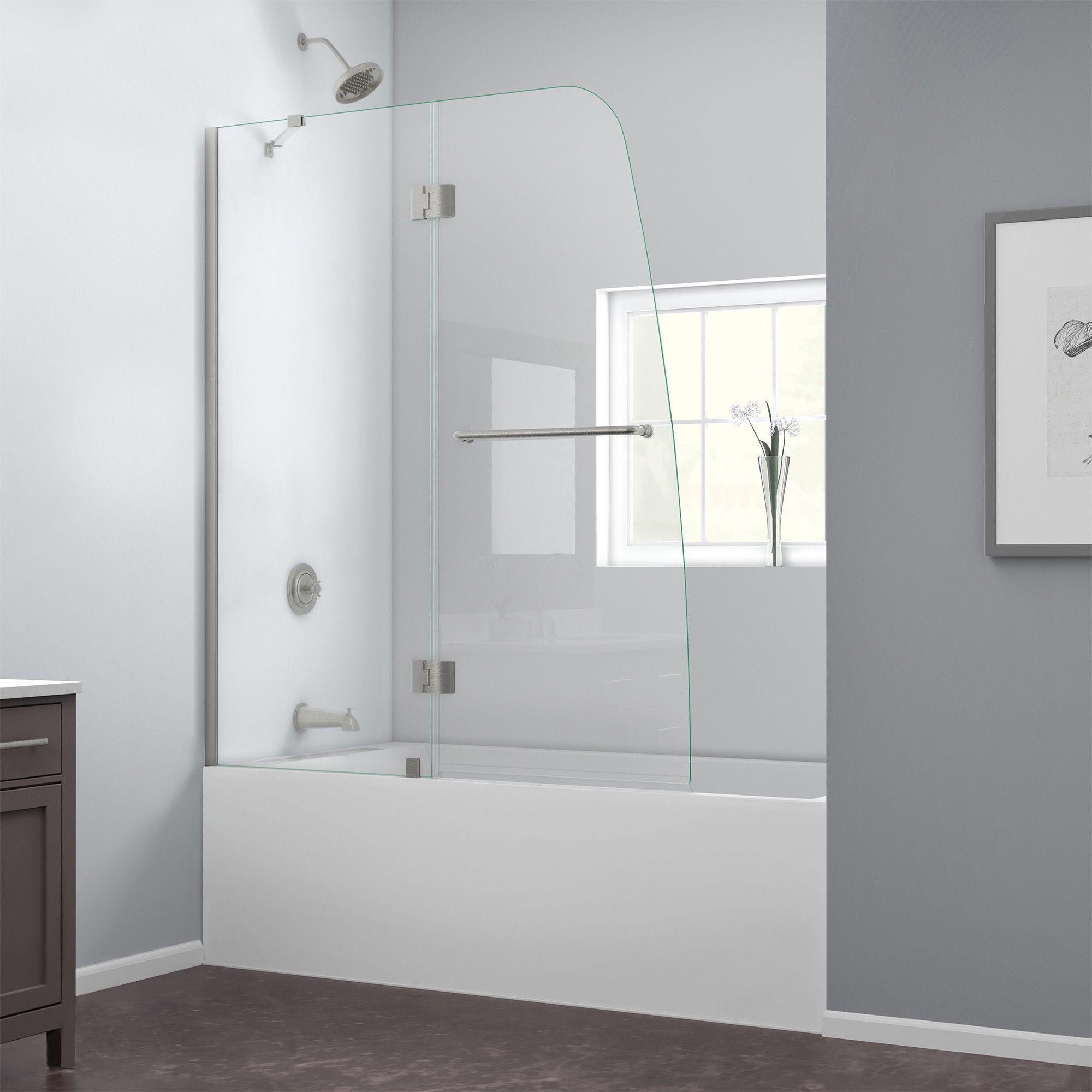 Dreamline Aqua 48 In Frameless Hinged Tub Door Shower Doors
