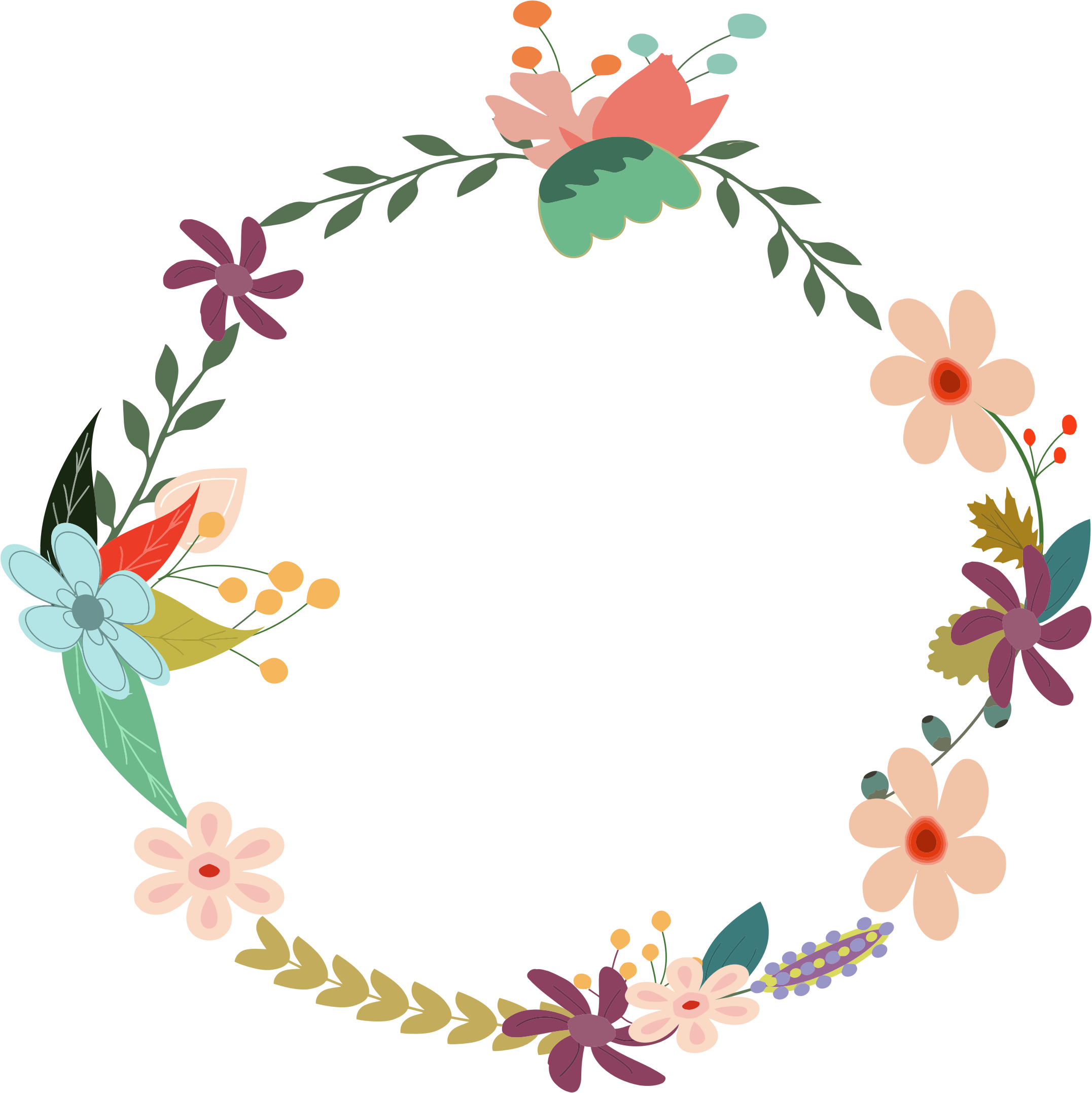 Vintage Floral Wreath by GDJ, From PDP, with love., on