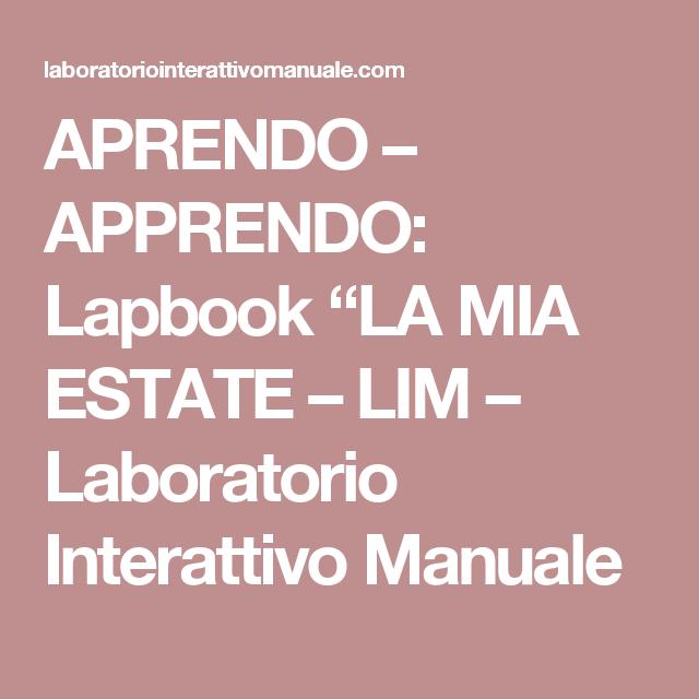 """APRENDO – APPRENDO: Lapbook """"LA MIA ESTATE – LIM – Laboratorio Interattivo Manuale"""