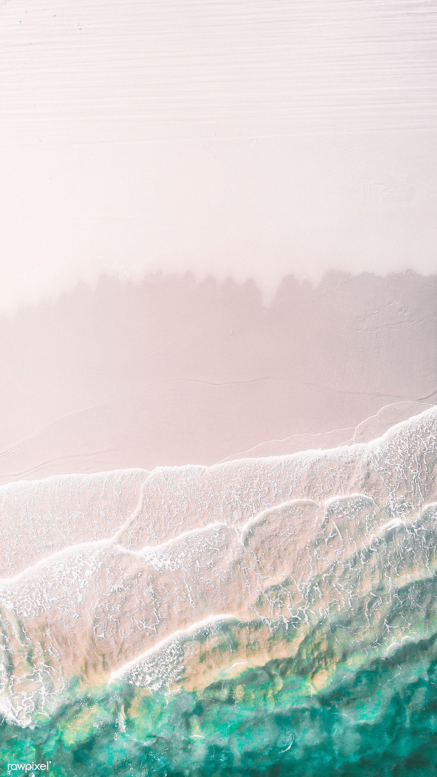 Download Premium Image Of White Sand Beach Mobile Phone Wallpaper Drone Beach Wallpaper Beach Wallpaper Iphone Ocean Wallpaper
