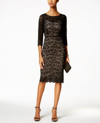 Alex Evenings Lace Sheath Dress
