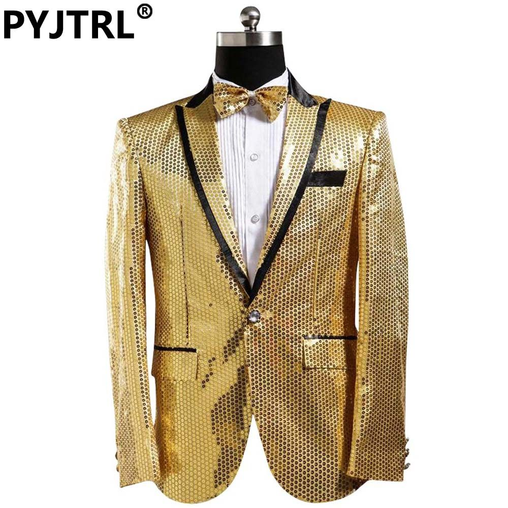 Jacketpants gold menus dress sequined costumes wedding suits for