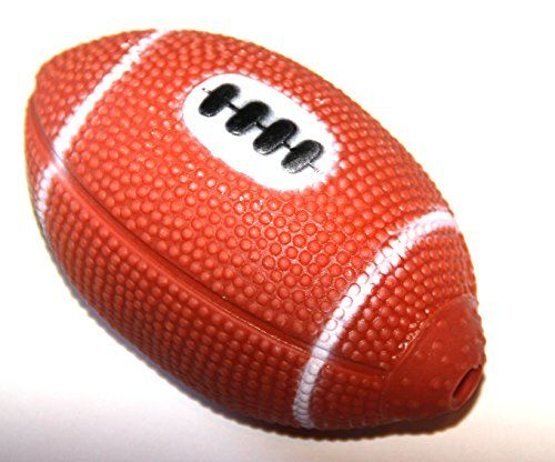 Alazco Small Squeaky Dog Football Toy 45 Vinyl With Squeaker