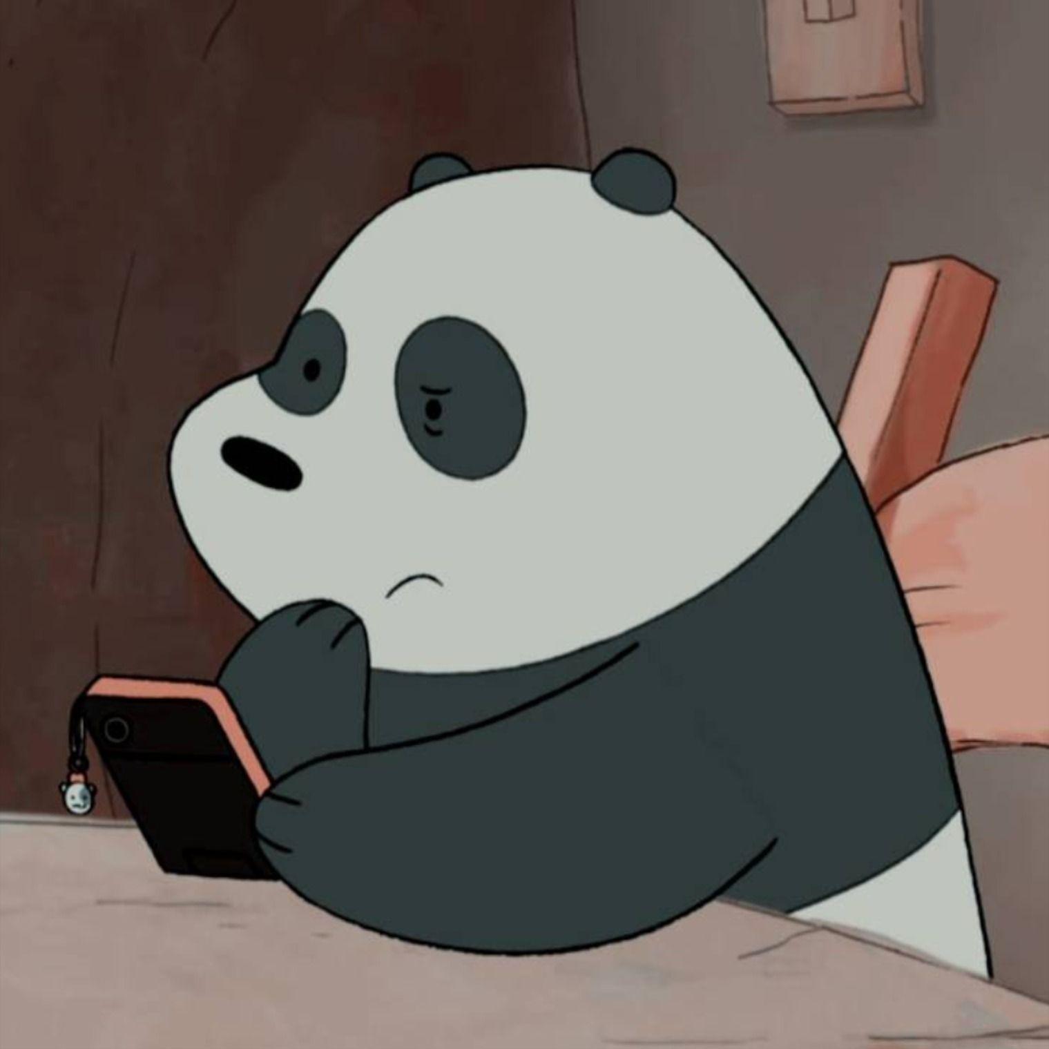 Panda Icon Bear Wallpaper We Bare Bears Cartoon Wallpaper