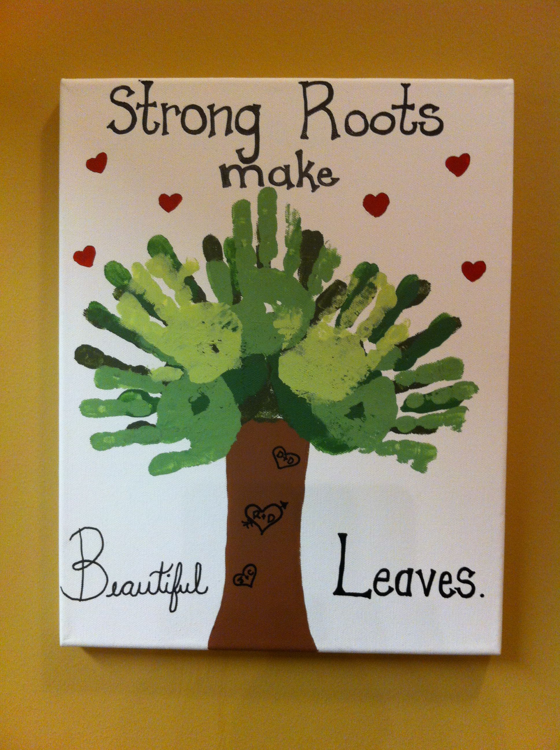 Strong Roots Make Beautiful Leaves...Great-grandparents Christmas ...