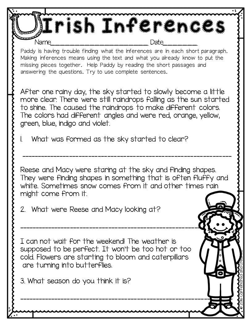 26+ Peaceful inference worksheets 2nd grade Wonderful