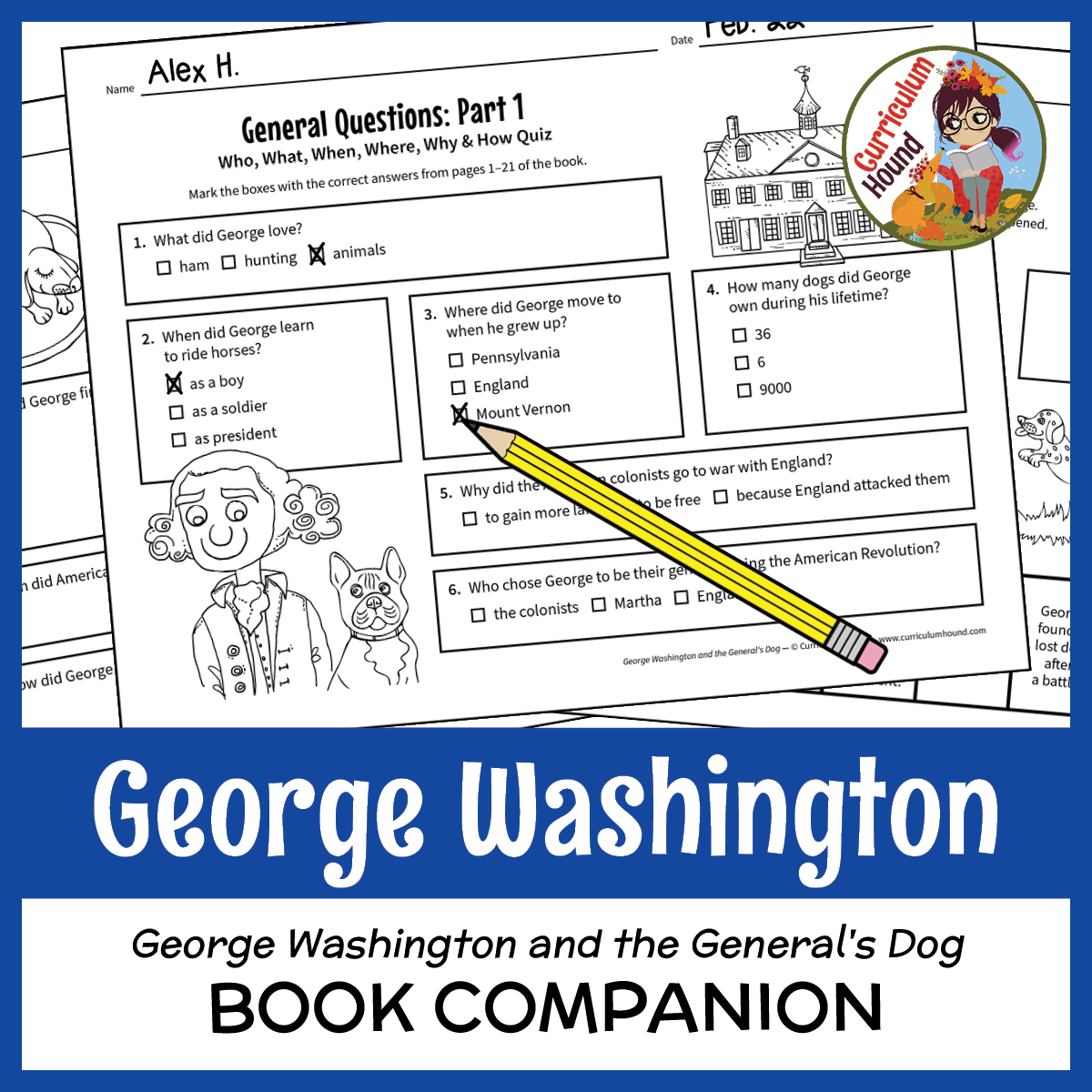George Washington And The General S Dog Book Companion