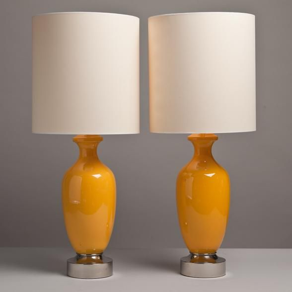 A Pair Of Vibrant Yellow Ceramic Table Lamps 1970S  My Style Classy Cheap Table Lamps For Living Room Inspiration Design