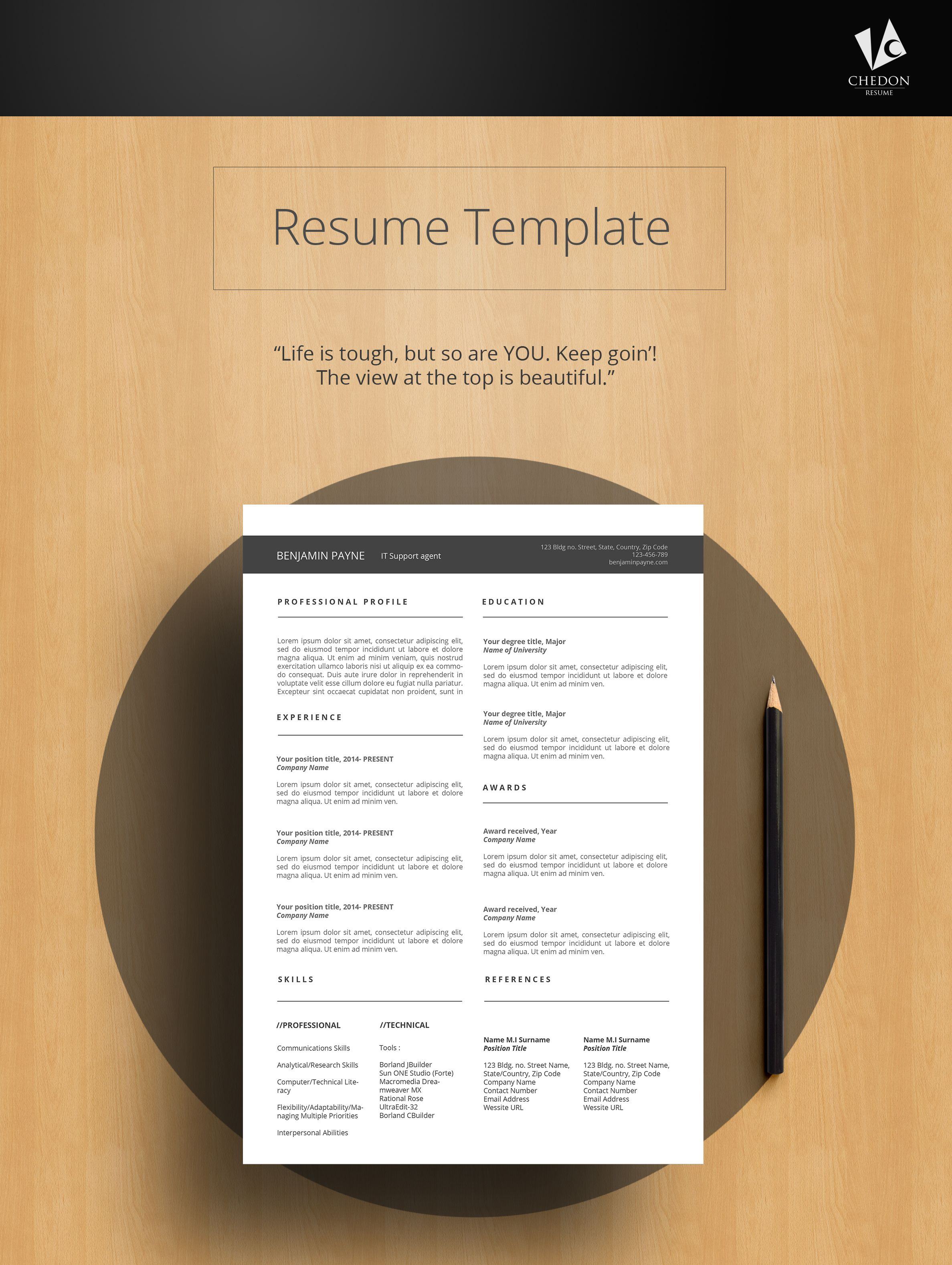 Zamtex Resume We Bring You This Simple And Clean Resume Design