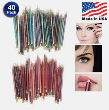 40-piece Waterproof Eyeliner / Lip Liner Set  10.00