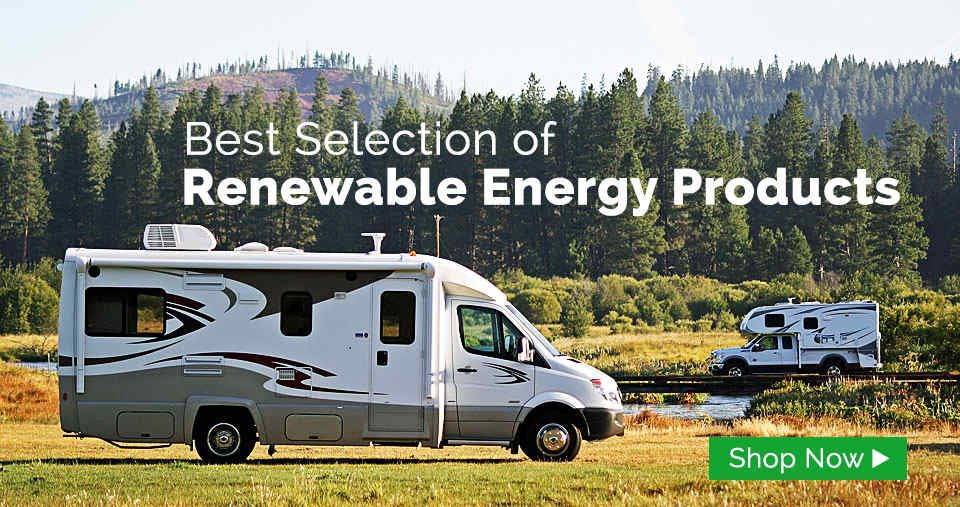 Renewable Energy Products for RV Recreational vehicles