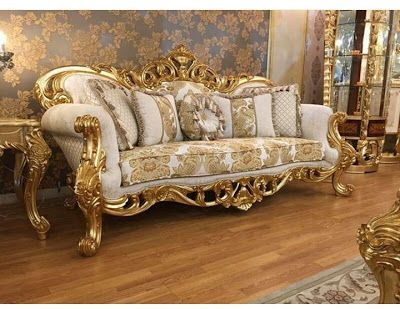 Mebel Dan Furniture Jepara Elegant Soffa Gold 3d