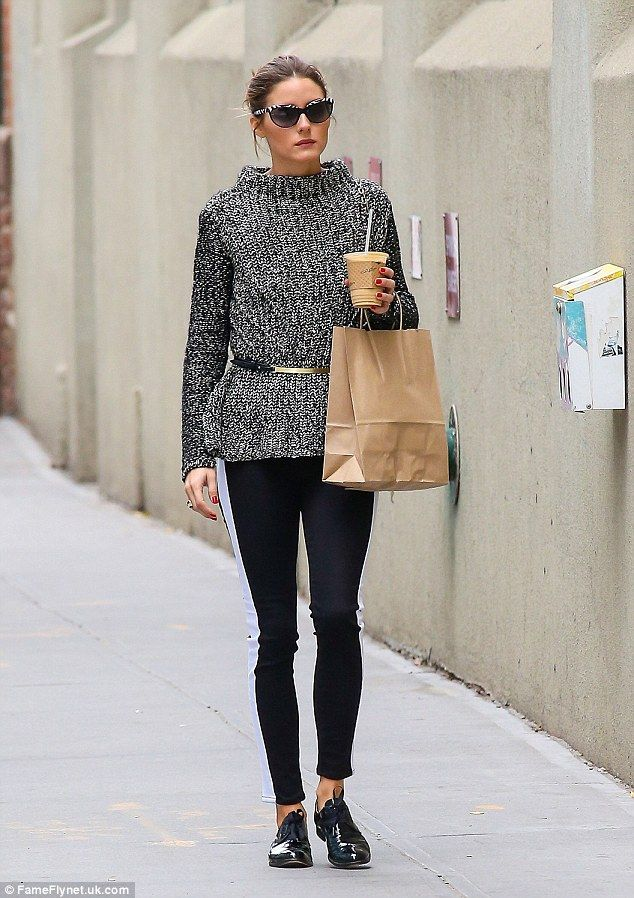 cb388e17b2d Coffee break  Olivia Palermo treated herself to a coffee on-the-go, while  her pet pooch raced along without her