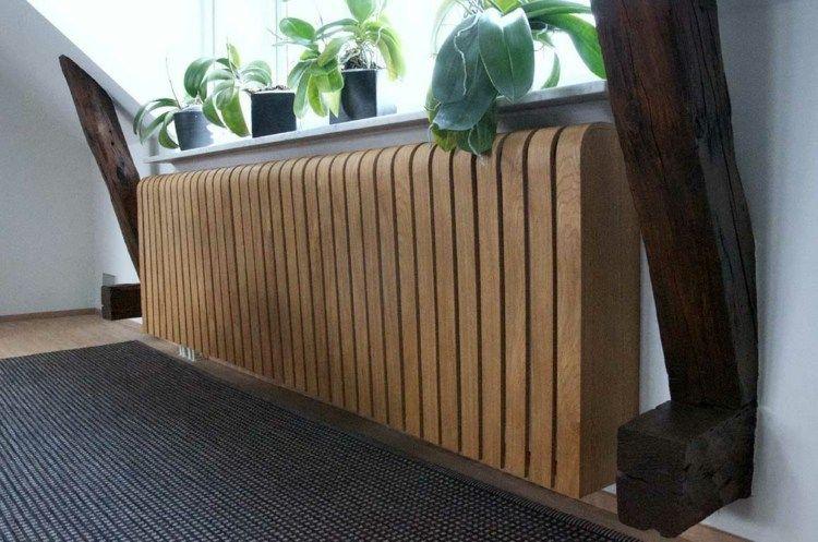 Ideen Heizkoerperverkleidung Holz Rund Dachschraege Idee Fenster Pflanzen