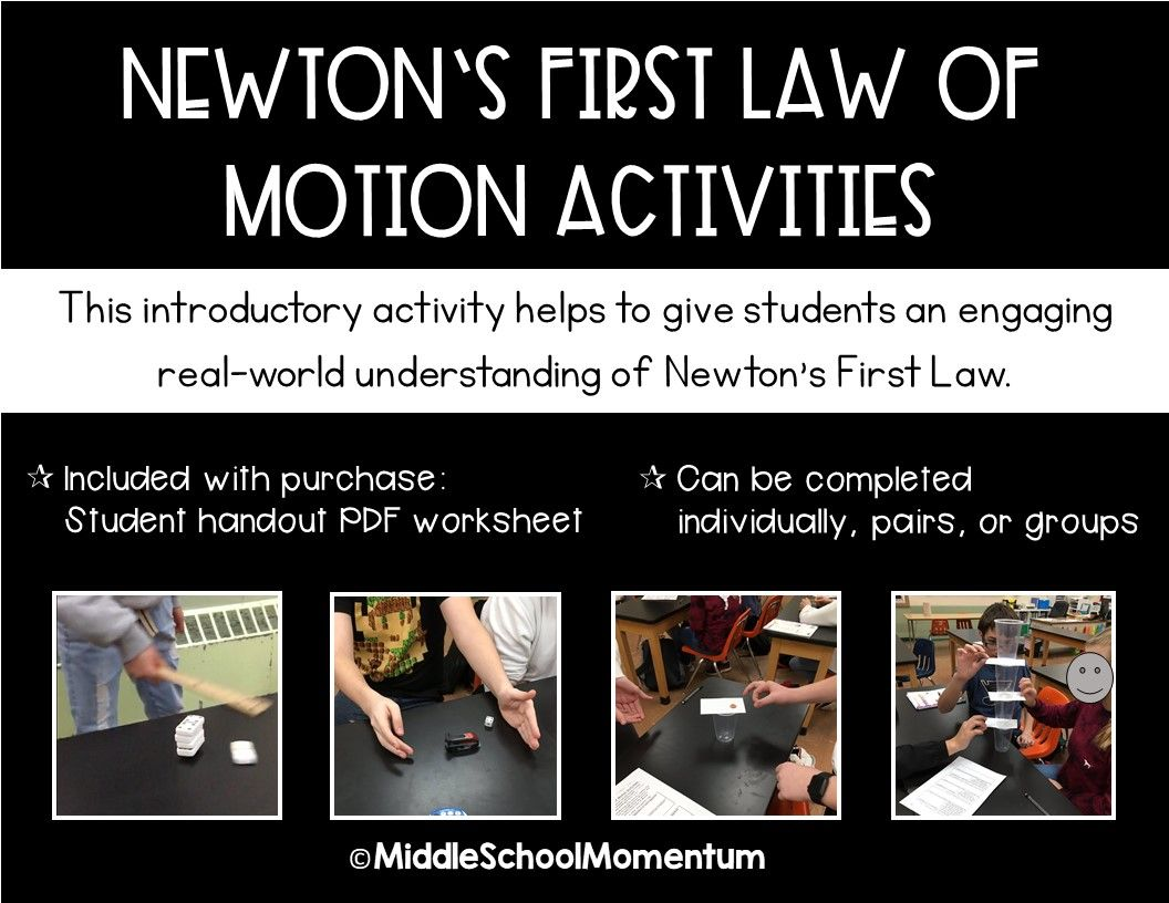 Newton S First Law Of Motion Activities