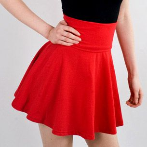 red high waisted skirt | high waist skirts❤❤❤ | Pinterest | Red ...