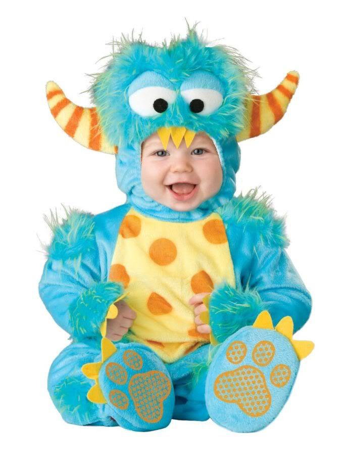 Deluxe Infant Baby Toddler Little Blue Monster Halloween Costume 6 - 18 month halloween costume ideas