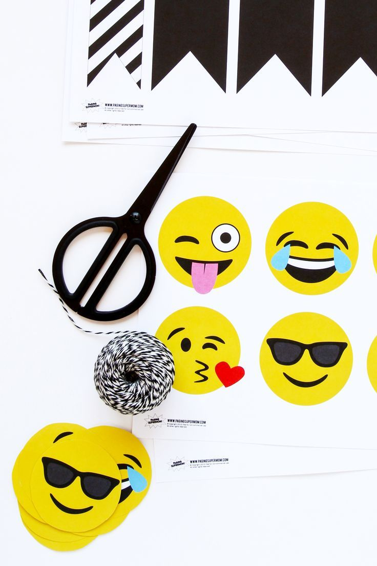 Printable Emojis Banner perfect for a dorm room or birthday party