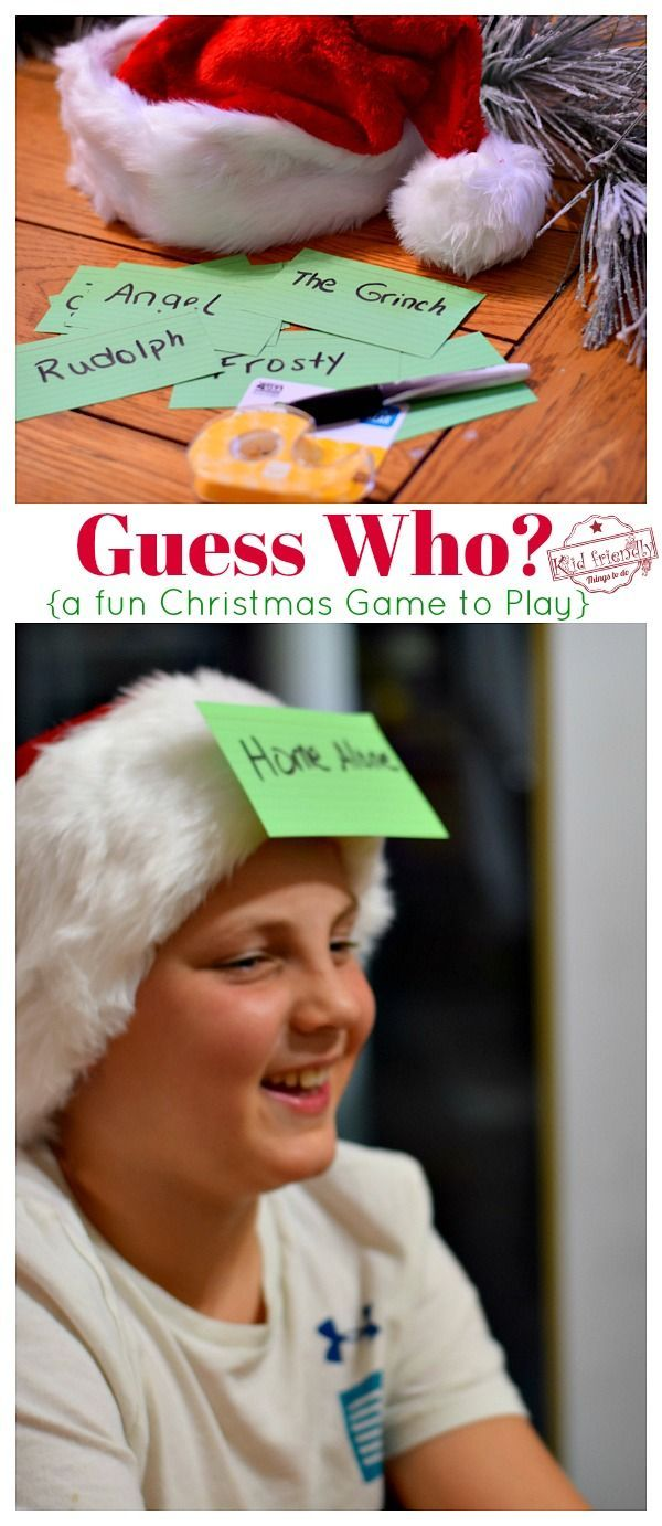 Guess Who A fun Christmas Game to Play  Kid Friendly Things To Do