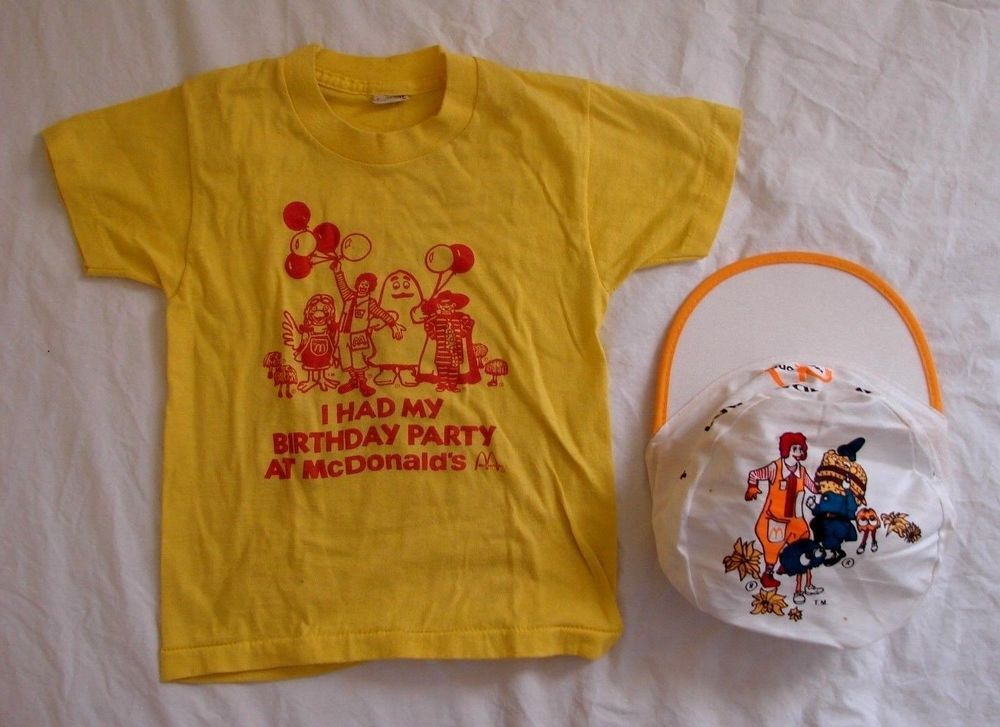 VINTAGE 1980/'s Ronald McDonald McDonalds Childs Birthday Party T Shirt