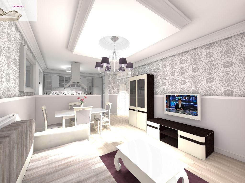 Salon Z Jadalnia 25m2 Wizualizacja Projektu Mieszkanie Pinterest
