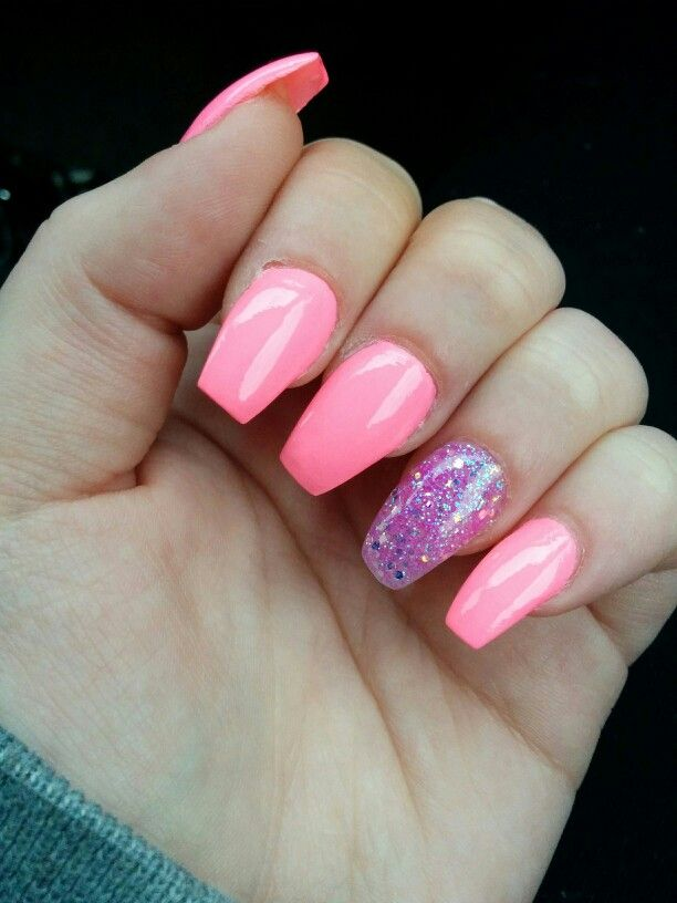Pink coffin nails | Nails | Pinterest | Coffin nails