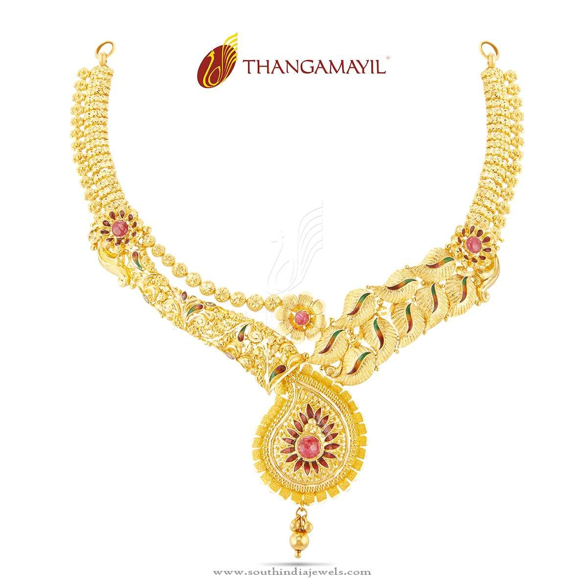 Traditional Gold Wedding Necklace Design | Necklace designs ...