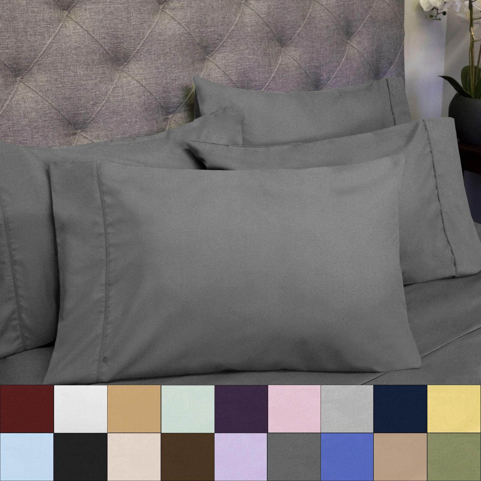 6 piece bedroom bed sheet set 1500 thread count luxury
