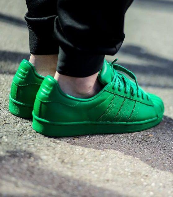 fe5d76c0d341 Pharrell Williams x adidas Originals Superstar  Supercolor  Green ...