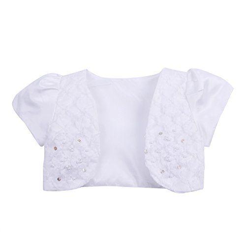 Sweet Kids Girls Pleated Satin Bolero Jacket Dress Cover Up