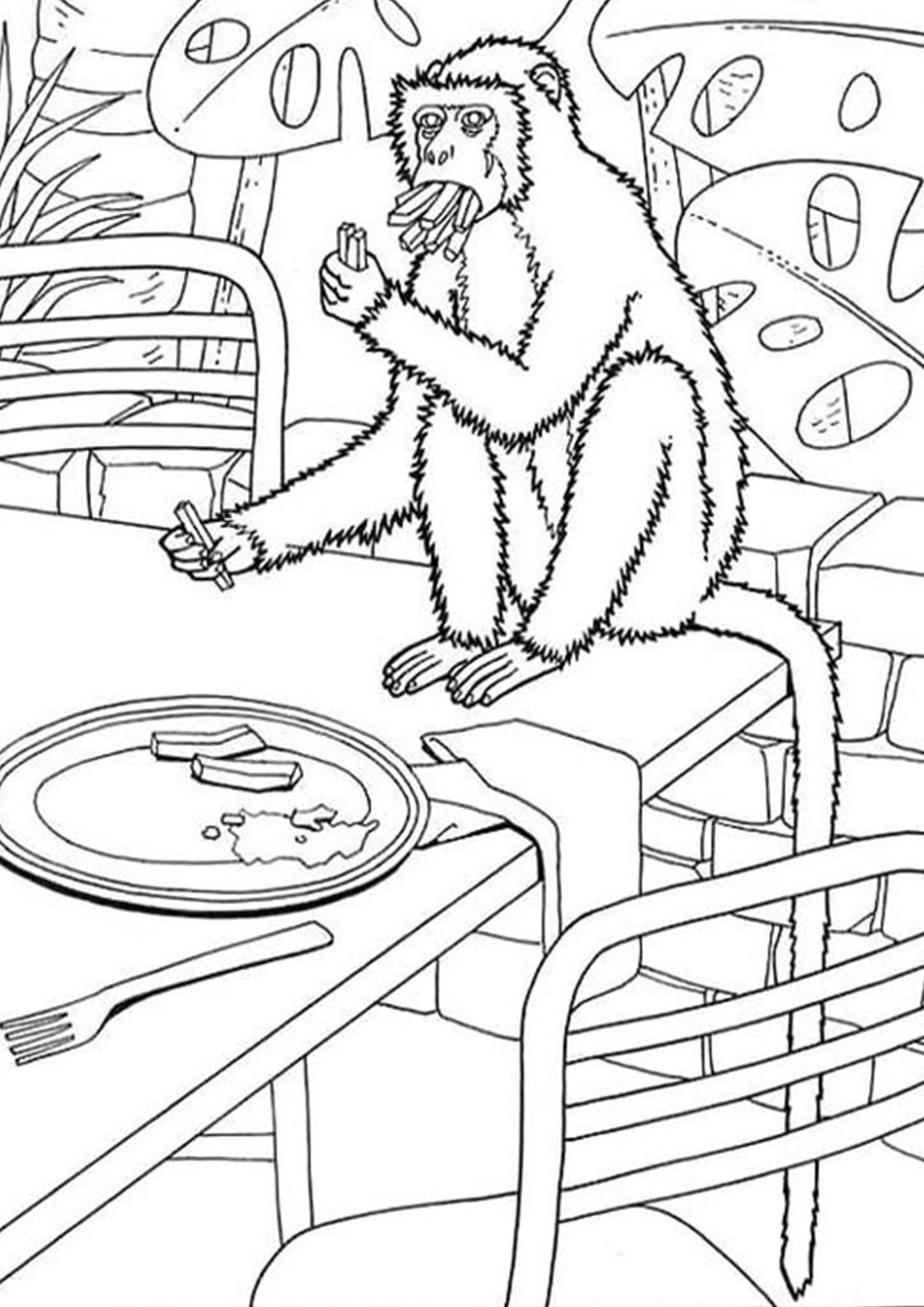 Free Easy To Print Monkey Coloring Pages Monkey Coloring Pages Dinosaur Coloring Pages Coloring Pages