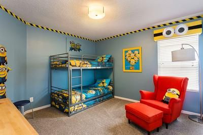 This Minions bedroom from Despicable Me is awesome!!! | Boys bedroom ...