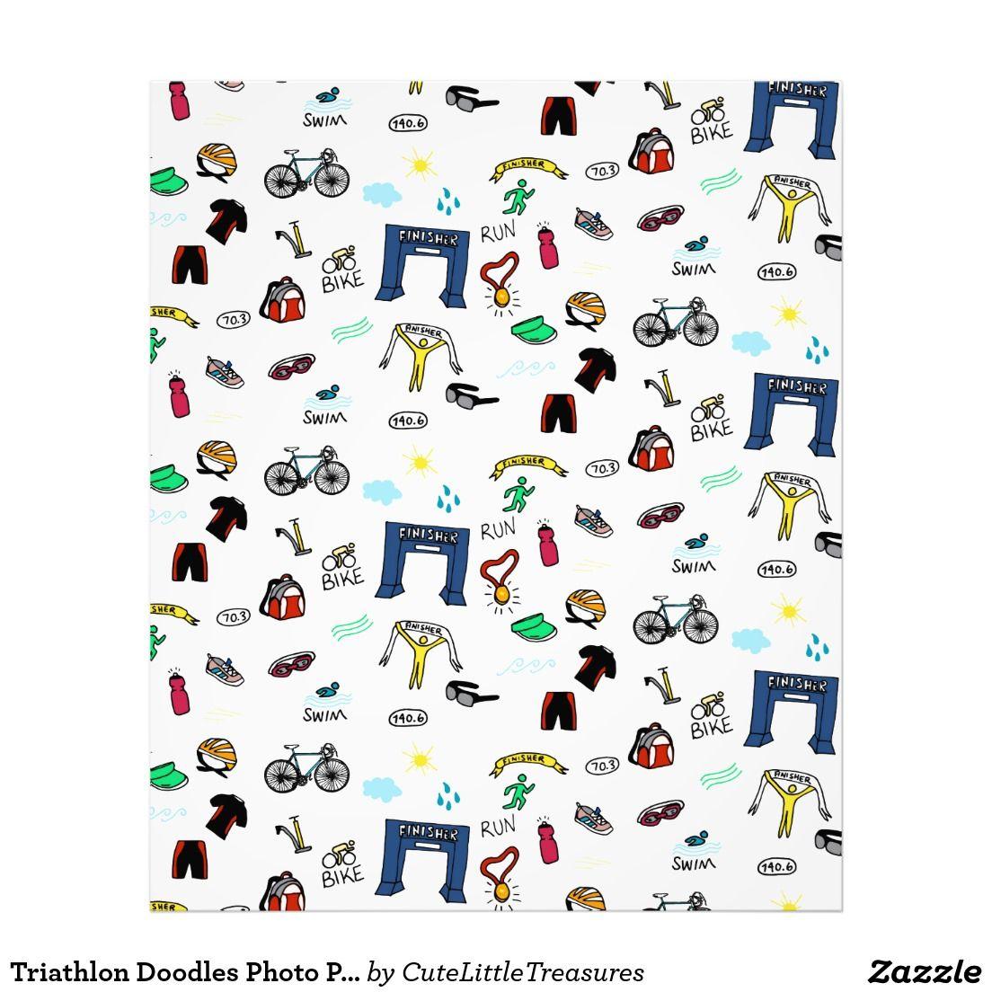 Triathlon Doodles Photo Print