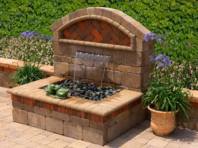 GARDEN FOUNTAIN | Capri Water Features   Outdoor Water Fountains   System  Pavers