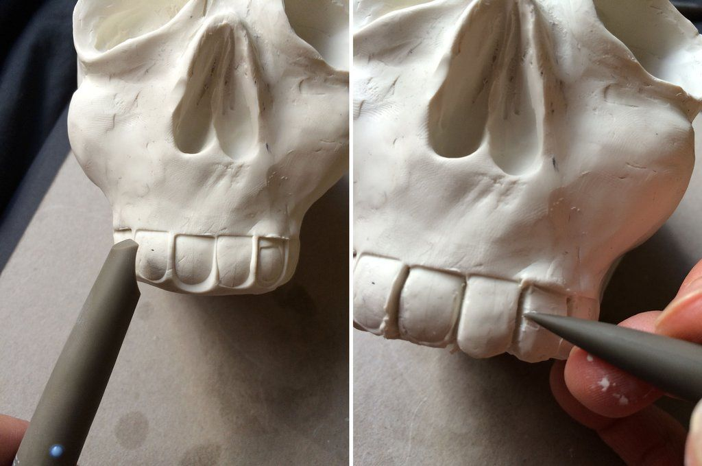 Sugar Shapers being used to sculpt teeth in polymer clay! http://www.sugarworks.com