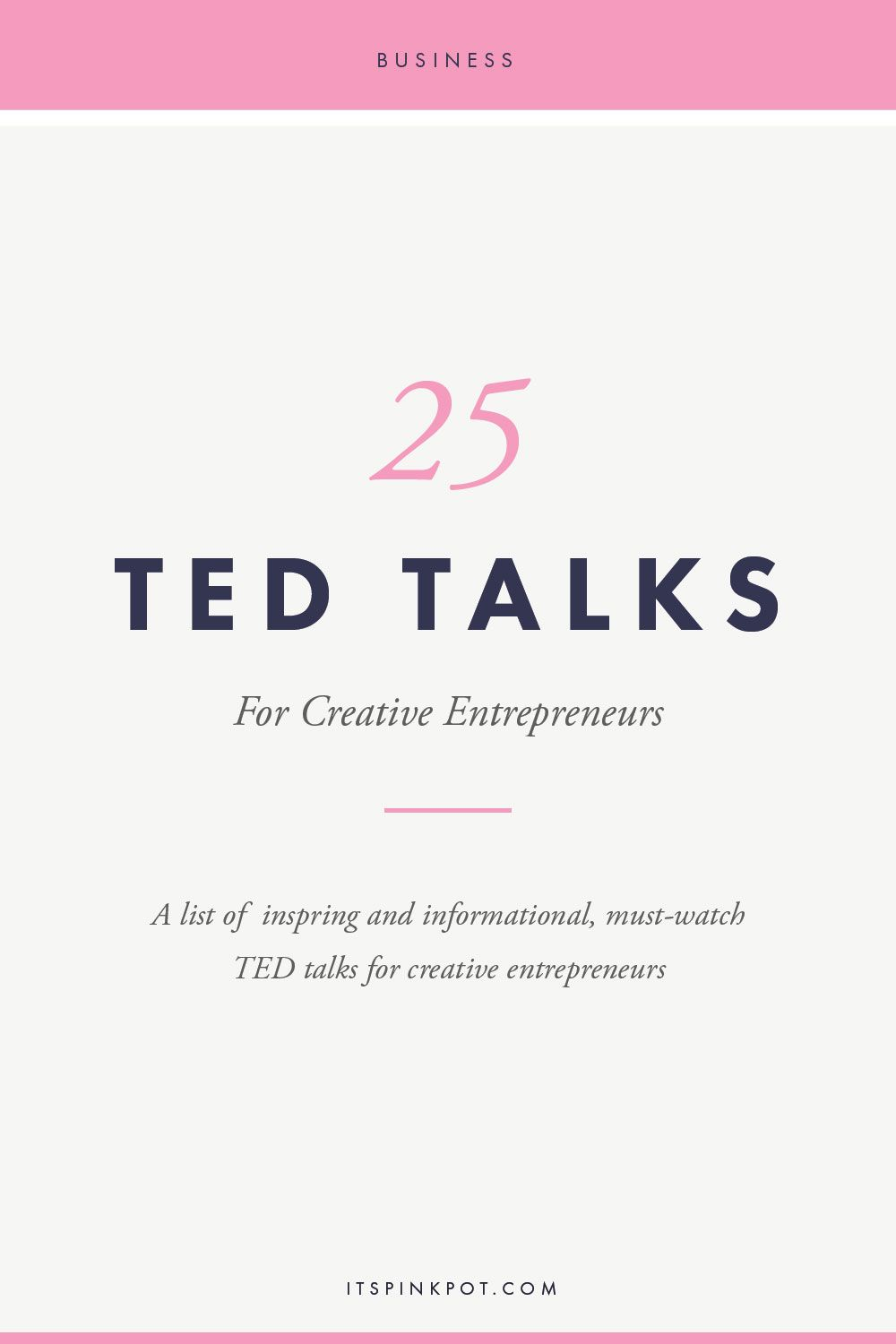 Often as business owners wearing multiple hats, we get exhausted and burnt  out! To keep you going, here are 25 ted talks to pep up and inspire  creative ...